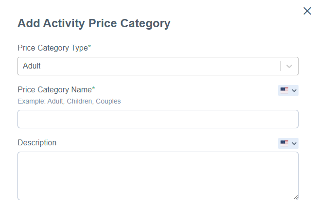 Price Category Type